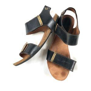 Bussola Maylina Leather Sandals Flat Sz 10